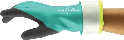 Chemiehandschuh AlphaTec, 58-735 Gr.9 grün EN