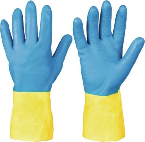 Chemiehandschuh Kenora, Gr.7 blau/gelb EN 388,EN